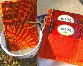 Tea Bag Wallet - Two Colors- Tea Lover, Tea Gift, Tea Bags, Teacher Gift, Tea Bag Holder