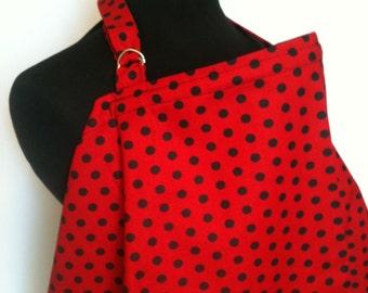Nursing Cover, Breastfeeding Feeding Cover up, Nursing cover up, Red BlackPolka Dot Nursing cover