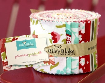SALE 2.5 inch strips PRIMROSE GARDEN Jelly Roll fabric by Riley Blake from Carina Gardner