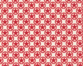 1 yard Red Sasparilla Flannel fabric Star from Riley Blake