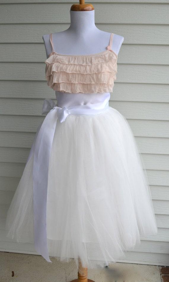 womens tutu white tulle skirt white tulle by