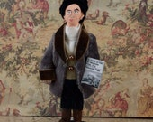Alexander Pope Satire Author and Writer Doll Miniature 18th century History