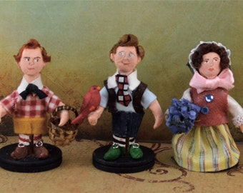 Munchkins of Oz Doll Miniature Set One of Kind by Uneek Doll Designs