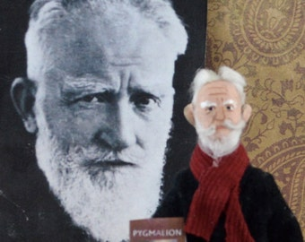 George Bernard Shaw Doll Miniature Irish Art Doll Collectible