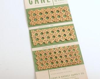 Vintage Cane Sample Card Wicker Cane Basket Supply Salemans Sample Dollhouse