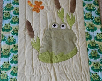 Froggy Crib Quilt frog boarder