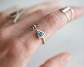 Blue Topaz Arrow Ring
