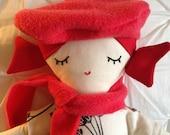 Redheaded Doll -- Red Haired Doll -- Cute Doll -- Cloth Doll -- Rag Doll --Soft Toy -- Valentine Doll -- French Doll -- Small Doll