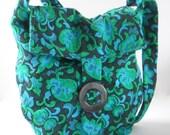 Messenger Bag • Handmade From Vintage Fabric • Vintage Upholstery Fabric