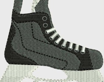 Hockey skate machine embroidery designs 4 sizes including mini