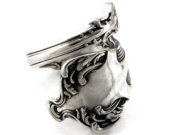 Size 6 To 15 1906 Spoon Ring Crest Antique Silverware