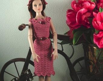 Crochet dress for 16 inch fashion dolls
