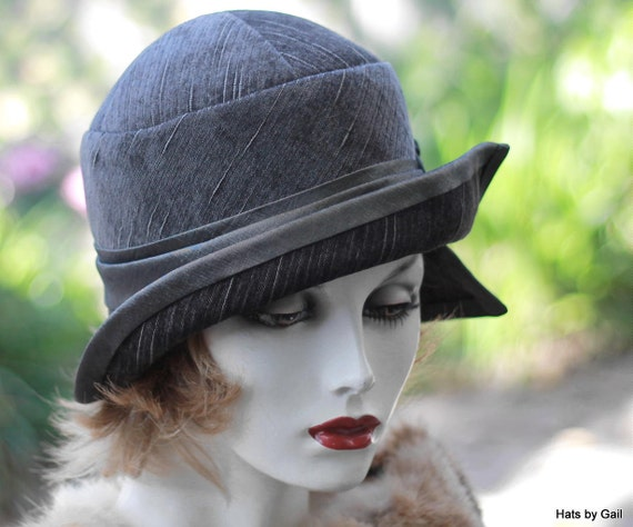 Womens 1920s flapper cloche hat vintage style great gatsby casual
