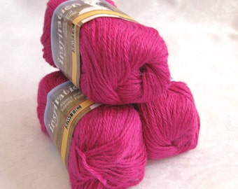 Pink Alpaca blend yarn, worsted weight,  SWTC Inspiration, Laughter (387)