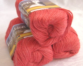 CORAL Alpaca blend  yarn, worsted weight yarn,  SWTC Inspiration,  Freetime (389)