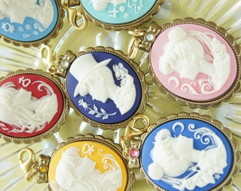Limited Stock 7 pcs  Sailor Moon Cameo Charm Set (((LAST)))