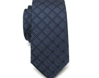 Men's Tie. Blue Necktie Navy Blue Men's Skinny Ties