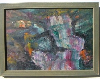 Mid Century Modern American Abstract  Oil Painting