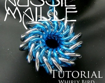 Chainmaille Tutorial - Whirly Bird Pendant