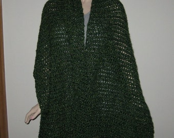 Homespun Prayer Shawl in the color Forrest