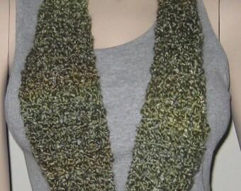 Crochet Homespun Infinity Scarf Cowl in Meadow