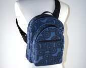 End of Year Sale Sling Pack in Navy Fabric Ready to Ship