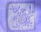 Vintage Antique Wide Lace COLLAR EDWARDIAN LAVENDER