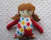 Amy Small Handmade Fabric Baby Doll