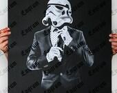 Smart trooper -  Star Wars Art Screen printed poster ( Storm trooper poster, Star Wars poster )