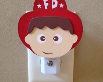 Fireman Night Light Firefighter Nursery Light Fireman Room Decor Boy Night Light