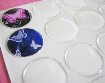 200   1 inch Circle Round Epoxy Stickers 25mm Peel & Stick Image Cover