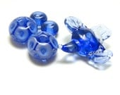 Little Blue Bird with matching beads 5 bead set by DZH