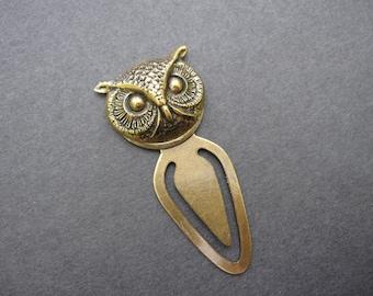 Owl Bookmark, Woodland Owl, Woodland Animal, Antique Brass, Forest Animal, Owl Head, Owl Lover, Books, Book Lover Gift,  Stocking Stuffer