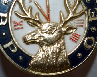 B.P.O.E.Brass Medallion Vintage