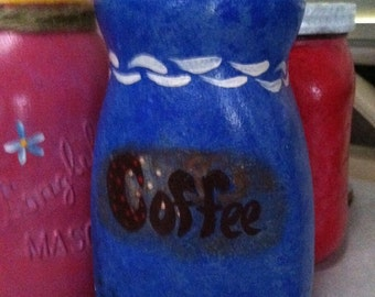 Hand Painted Coffee Jar