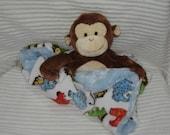 Security Blanket, Baby Blanket, Lovie,  - Monkey - Lovems