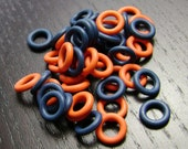 9mm Auburn Tigers / Chicago Bears / Denver Broncos O Ring Mix...50ct.