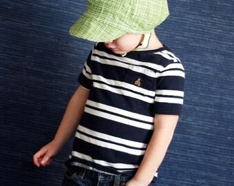 UB2 CUSTOM a custom baby BOY sun hat in a lovely newsboy hat shape by The Urban Baby Bonnet (all sizes)