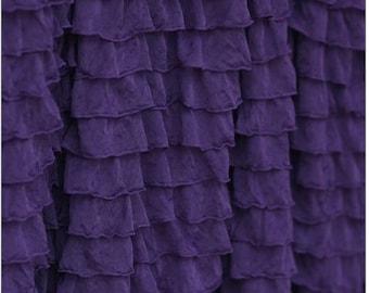 Purple Ruffle Blackout Curtains 28 Images Decorating