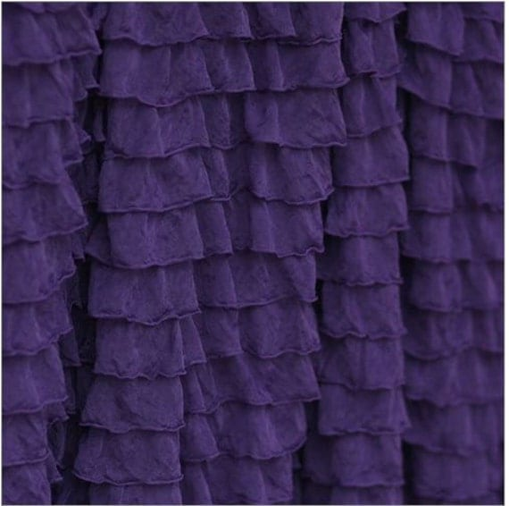 Items Similar To Ruffle Curtain Panel, Plum Dark Purple