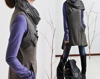 Echo - vagabond vest dress and cotton top set (P5108)