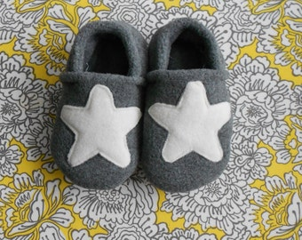 Custom Sea Star Fleece Slippers/Booties with Grip Tight Soles  (Polartec Fleece/color nickel)