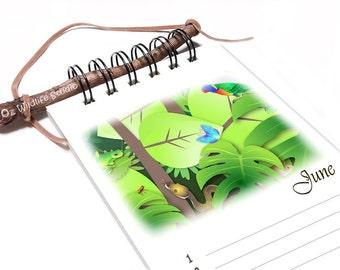 Perpetual Calendar - Australian Wildlife Friends - Birthday Calendar - Rainforest Animals