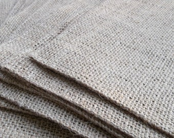 Handmade Burlap Placemats Set of 12 Rustic Placemats French Country Prairie Farmhouse Burlap Table Cover Dozen
