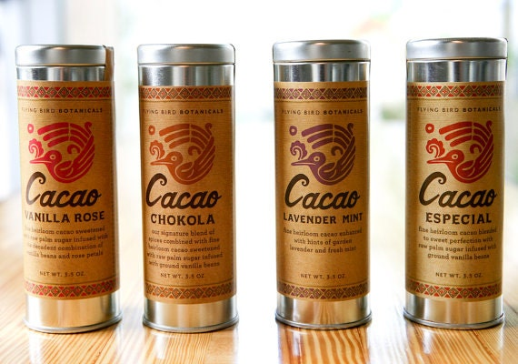 0499 Cacao Lavender Mint 3.5oz... hot drinking chocolate made with 100% organic, natural fair trade ingredients