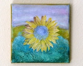 sunflower - original mixed media by Tremundo