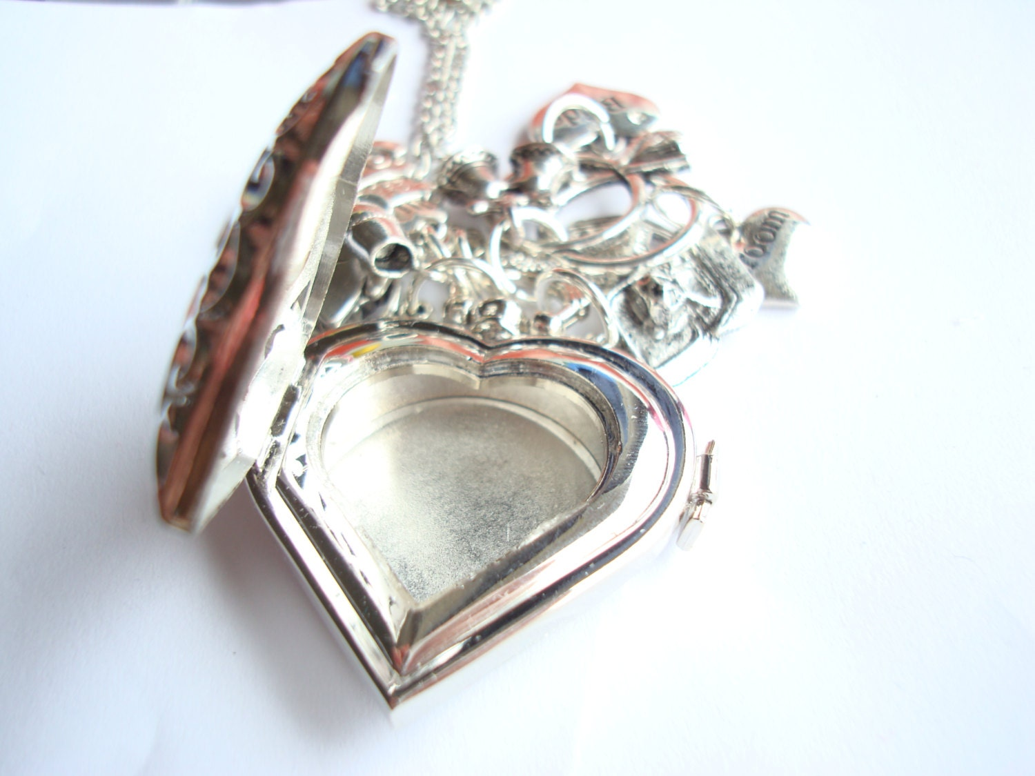 wedding ring holder necklace space for groom rings