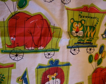 juvenile circus print  cotton fabric