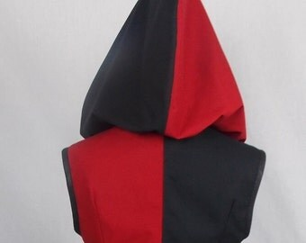 Black and Brick Red Hoodie Bolero Shrug by LoriAnn Costume Designs - Choose Size xs s m l xl 2x 3x