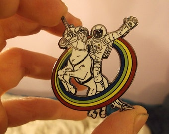 Epic Combo #23 astronaut riding a unicorn Hat pin ONLY TWO LEFT!